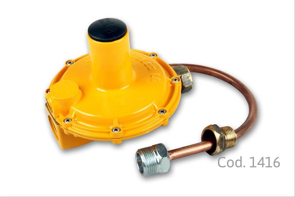 Regulador para gas natural 12m3 con flexible 1 5 bar - Regulador de gas ...